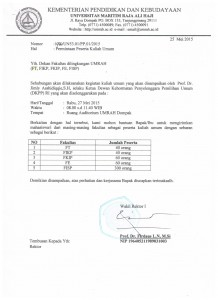 Permintaan Peserta Kuliah Umum 001